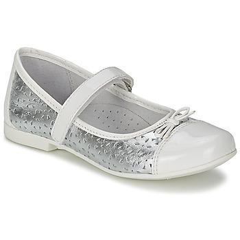 Shoes Girl Flat shoes Citrouille et Compagnie JILENA White / Silver