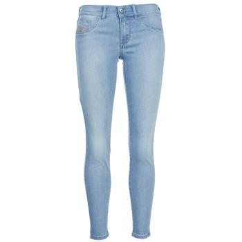 Clothing Women slim jeans Diesel LIVIER ANKLE Blue / Clear