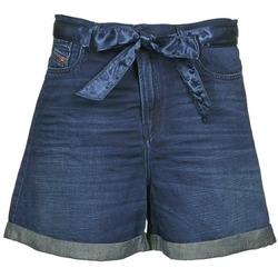 Clothing Women Shorts / Bermudas Diesel DE-KAWAII Blue / Dark