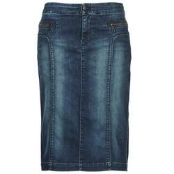 Clothing Women Skirts Diesel DE-TRENKER Blue / Dark