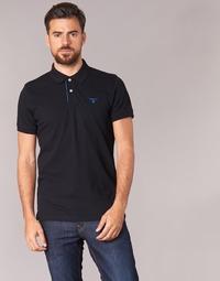 Clothing Men short-sleeved polo shirts Gant CONTRAST COLLAR PIQUE SS RUGGER Black