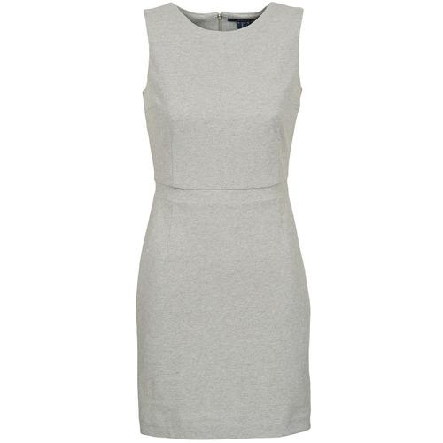 Clothing Women Short Dresses Gant L. JERSEY PIQUE Grey