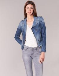 Clothing Women Denim jackets Schott JANIS Blue