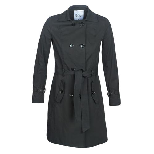 Clothing Women Trench coats Betty London JIVELU Black