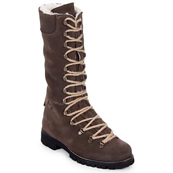 Shoes Women Mid boots Swamp STIVALE LACCI MONTONE Brown / Dark