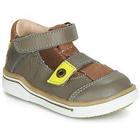 Shoes Boy Sandals GBB PORRO Grey / Yellow