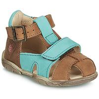 Shoes Boy Sandals GBB SEROLO Brown / Blue