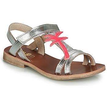 Shoes Girl Sandals GBB SAPELA Silver / Pink