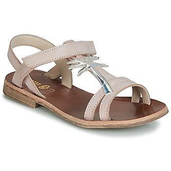 Shoes Girl Sandals GBB SAPELA Pink / Silver