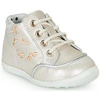 Shoes Girl Hi top trainers Catimini BALI Vte / Silver-beige