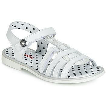 Shoes Girl Sandals Catimini MUNDA White