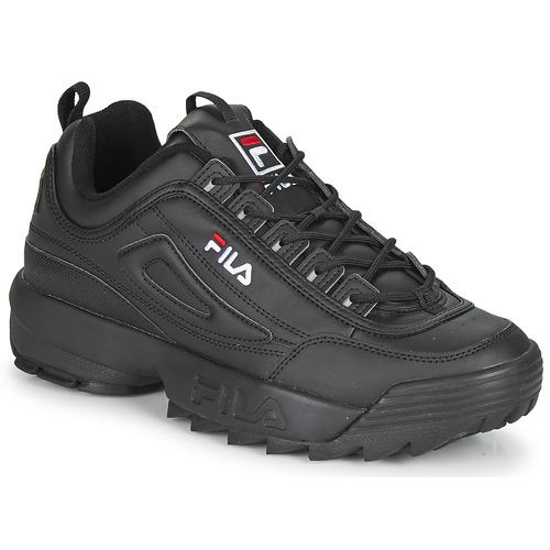 Shoes Men Low top trainers Fila DISRUPTOR LOW Black