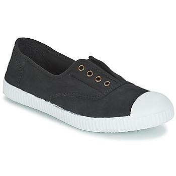 Shoes Women Low top trainers Victoria INGLESA ELASTICO TINTADA Black