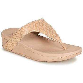 Shoes Women Flip flops FitFlop LOTTIE CHEVRON SUEDE Pink