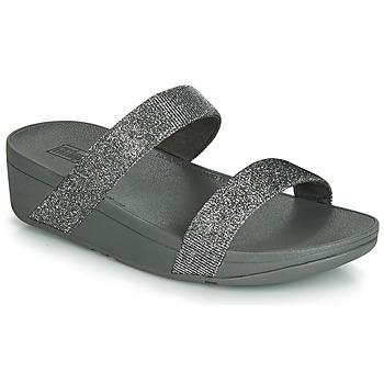Shoes Women Mules FitFlop LOTTIE GLITZY SLIDE Silver
