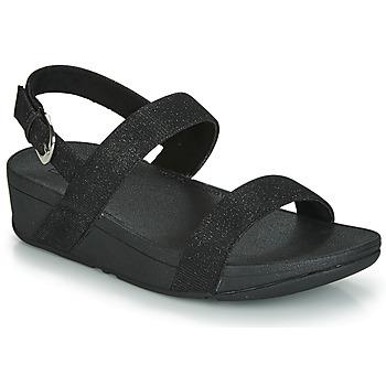 Shoes Women Mules FitFlop LOTTIE GLITZY BACKSTRAP SANDAL Black