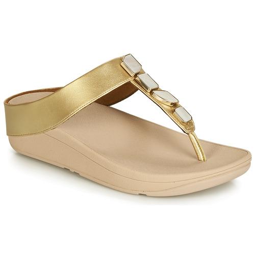 Shoes Women Sandals FitFlop FINO SHELLSTONE Gold