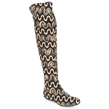 Shoes Women Thigh boots Missoni SM05 Beige